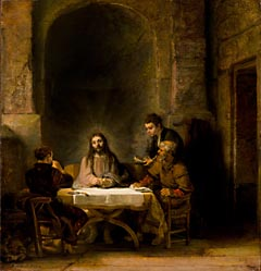 <i>Pilgrims at Emmaus or The Supper at Emmaus</i>